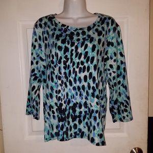 RAFAELLA Long Sleeve Studded Womens Tunic